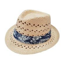 Sombrero verano de paja con cinta estampada floral