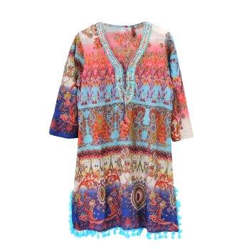 Vestido Túnica Kaftán étnico paisley