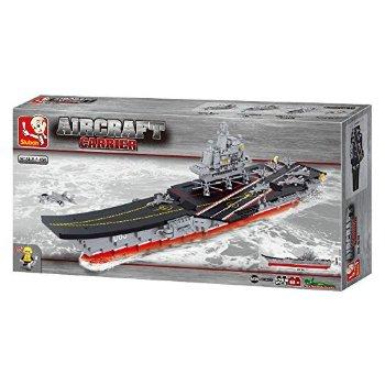Sluban piezas de construcción Barco Portaaviones