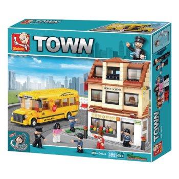 Sluban piezas de construcción Autobús y Escuela