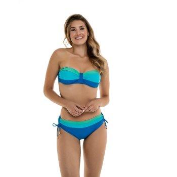 Bikini Colorblock bandeau copa preformada TB0446