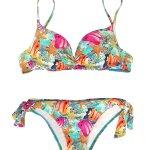 Bikini estampado multicolor