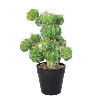 Cactus artificial Redondo con flor