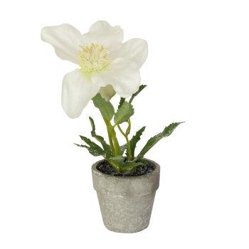 Flor Blanca artificial con maceta