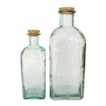 Jarrón de Cristal Reciclado con Tapón