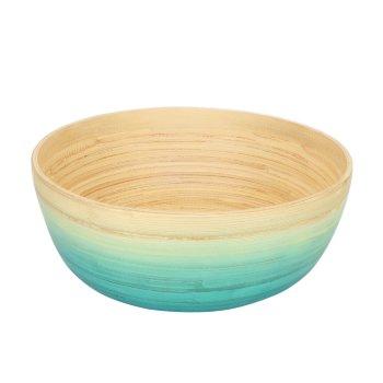 Bol de Bambú en Tono turquesa