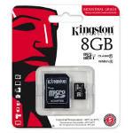 Kingston, Tarjeta micro SDHC de 8 GB, Neg