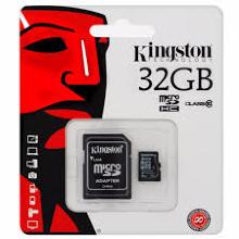 Kingston , Tarjeta micro SDHC de 32 GB, Neg