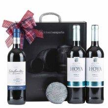 Caja de navidad con vino