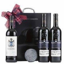 Caja de navidad con vino surtido