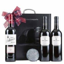 Caja de navidad con vinos