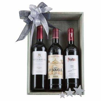 Caja de navidad con vinos surtidos