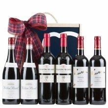 Caja con vinos surtidos
