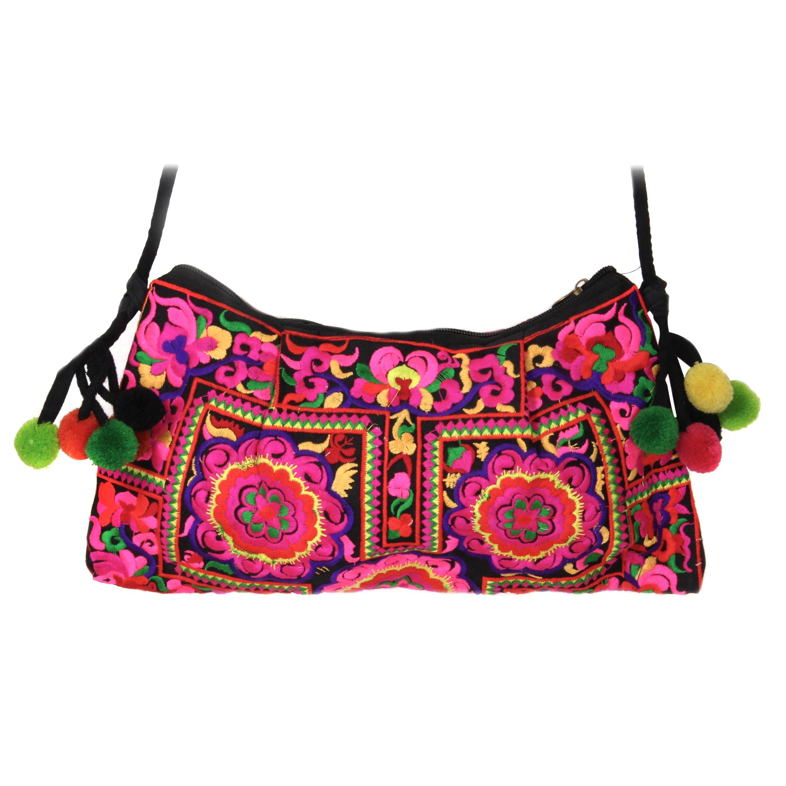 bandolera multicolor estilo Bolso Ventajon tribal étnico 4wqTHId