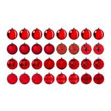 VINTER 2020 bola árbol Navidad, juego de 32, 8cm de diámetro