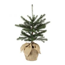 VINTER 2020 árbol de navidad artificial con maceta saco incluida, 78cm de altura
