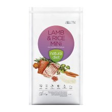 2x1 Natura Diet Lamb & Rice Mini hipoalergénica