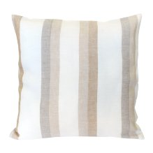 Funda de cojín gris/beige 100% lino