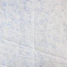 Tela de semi lino dibujada para bordar