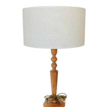Pantallas de lámpara redondas de lino