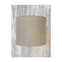 Lámpara de pared con pantalla de lino