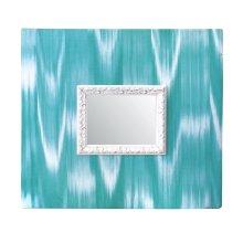 Espejo de pared forrado de tela de llengües
