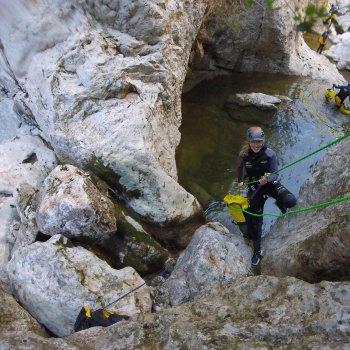 Descenso de Barranco Binifaldó, Nivel iniciación