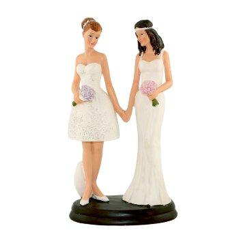 Decoración Figura pareja chicas