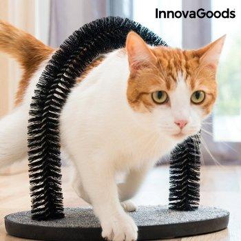 Rascador para gatos y arco masajeador