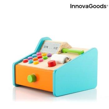 Caja registradora de madera con accesorios