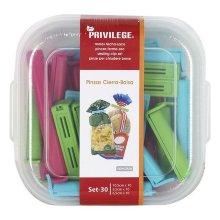 Pinzas Cierra Bolsas Privilege Multicolor