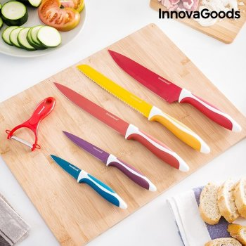 Juego de cuchillos cerámicos y pelador InnovaGoods
