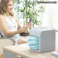 Mini Climatizador Evaporativo Portátil Con Led