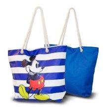 Bolsa de Playa Mickey Mouse Azul (33,5 x 43 cm)