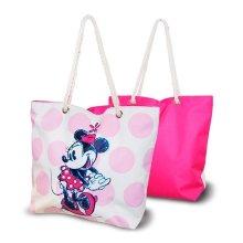 Bolsa de Playa Minnie Mouse Rosa (33,5 x 43 cm)