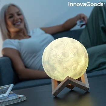 Lámpara Led Recargable Luna Moondy