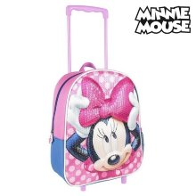 Mochila Escolar 3D con Ruedas Minnie Mouse