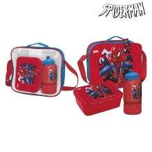 Portameriendas con Accesorios Spiderman Rojo