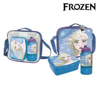 Portameriendas con Accesorios Frozen Azul