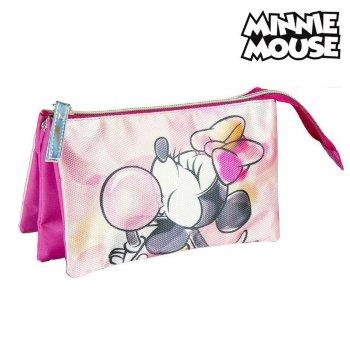 Estuche Escolar Minnie Mouse Rosa