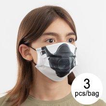 Mascarilla Higiénica de Tela Reutilizable Gas Luanvi Talla M (Pack de 3)