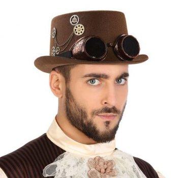 Sombrero Steampunk Marrón