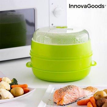 Vaporera Doble para Microondas Fresh InnovaGoods