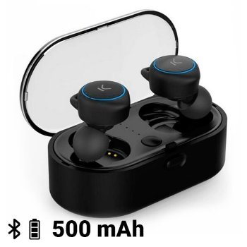 Auriculares Inalámbricos KSIX Go & Play Unlimited Bluetooth Negro