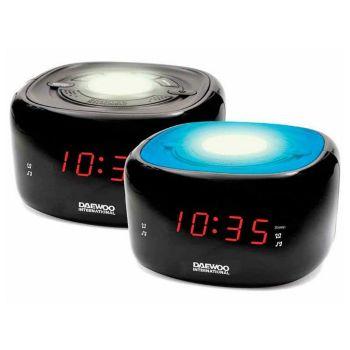 Radio Despertador Daewoo DCR-440BK LED FM Negro