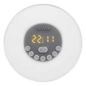 Radio Despertador Denver Electronics CRLB-400 FM Bluetooth LED Blanco