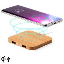 Cargador Inalámbrico para Smartphones Qi Bambú 146542