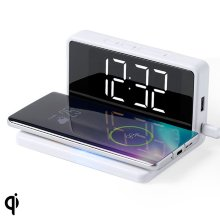 Reloj Despertador con Cargador Inalámbrico Blanco 146512