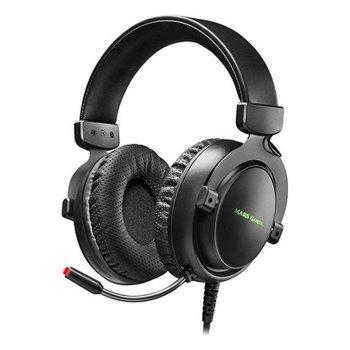 Auriculares con Micrófono Gaming Mars Gaming MH4X LED (2 m) Negro