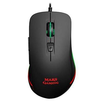 Ratón Óptico Mars Gaming MM118 USB 9800 DPI Negro